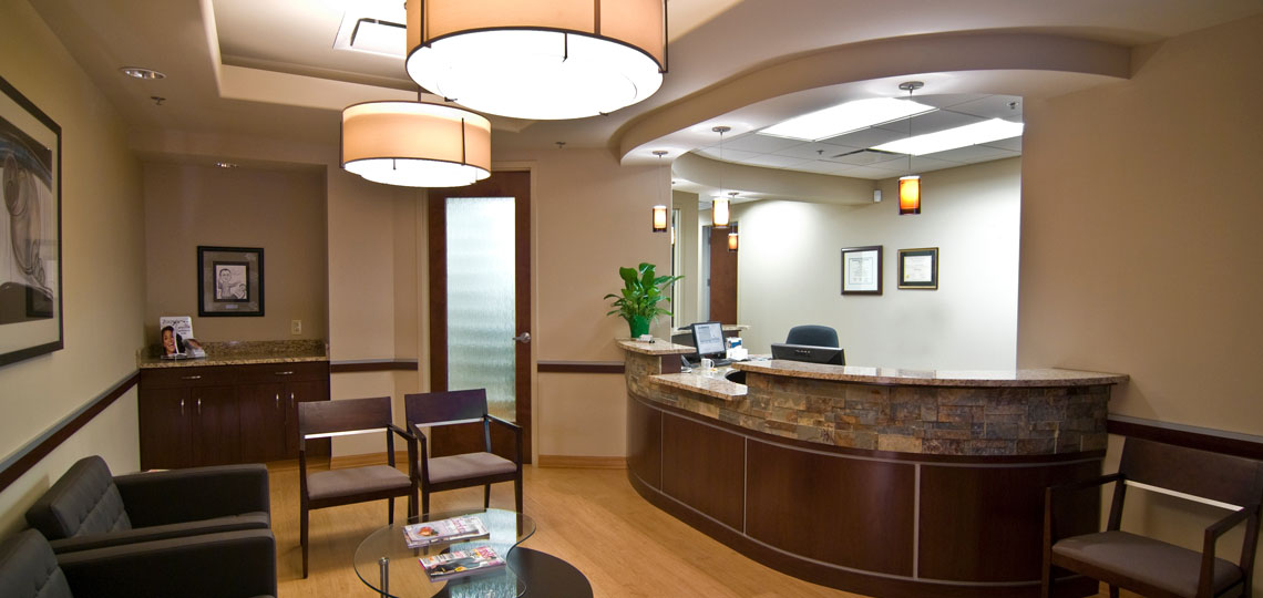The client requested a sleek and contemporary design incorporating a natural feel. This new dental office construction reflects that vision and creates a tranquil patient environment.